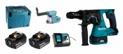 Makita DHR243RTJV inclu. Aspiration DX02 + 2x Batterie 5,0Ah