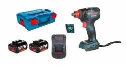 Bosch GDX 18V-200 C Professional 2x 5Ah Batterie + Chargeur + GCY 30-4