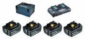 Makita Power Source-Kit 4x 5Ah Batterie BL1850B + DC18RD