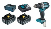 Makita DDF484RTJ 2x 5Ah Batterie + Chargeur
